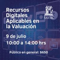 [grabado] Recursos digitales aplicables en la valuación (No Socios)