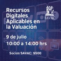 [grabado] Recursos digitales aplicables en la valuación (Socios)
